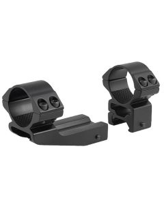 """Hawke 2"""" Extension 30mm 2 Piece Weaver Cantilever Scope Rings - High"""