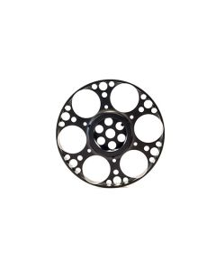 Falcon 125mm Aluminium Side Wheel (Black Anodised) to fit T50 and X50 Models