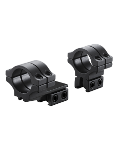 BKL-302 Black 30mm 2 piece Double Strap Offset Dovetail Scope Rings