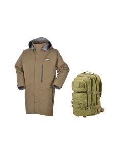 Ridgeline Evolution Jacket - Heather Brown + FREE KOMBAT UK 28 LITRE ASSAULT PACK (RRP £29.95)