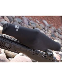 "ScopeCoat Black XP-6 Flak Jacket Large 50 12.5""x 50mm 6mm Neoprene Scope Cover Protective Jacket"