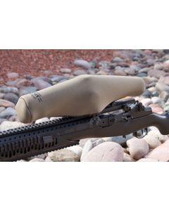"ScopeCoat Dark Earth XP-6 Flak Jacket Large 12.5""x 42mm 6mm Neoprene Scope Cover Protective Jacket"