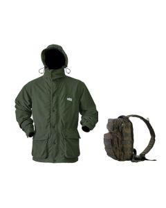 Ridgeline Torrent III Jacket – Olive + FREE KOMBAT UK RECON SHOULDER PACK (RRP £24.95)