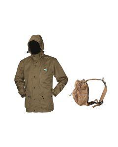 Ridgeline Seasons Jacket – Heather Brown + FREE KOMBAT UK RECON SHOULDER PACK (RRP £24.95)